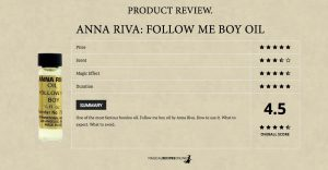 Product Review: Follow me boy oil, by Anna Riva