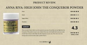 """Product Review: """"High John the Conqueror"""" powder of Anna Riva"""