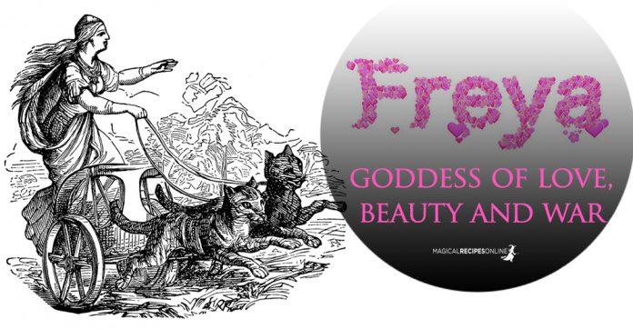 Freya (Freja) the Scandinavian Goddess of Love, Beauty and War