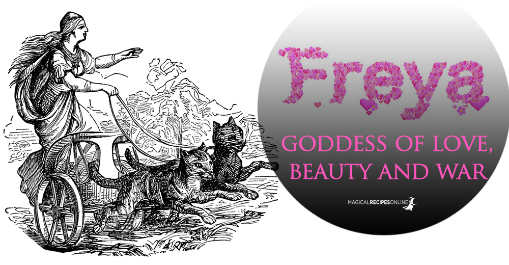 Freya (Freja) the Scandinavian Goddess of Love, Beauty and War