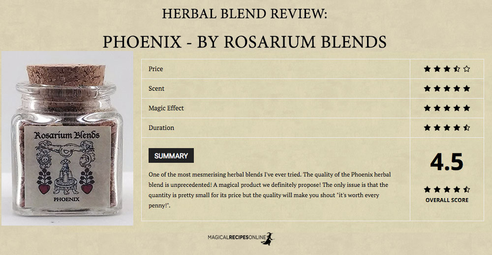 Review: 'Phoenix herbal blend' of Rosarium Blends