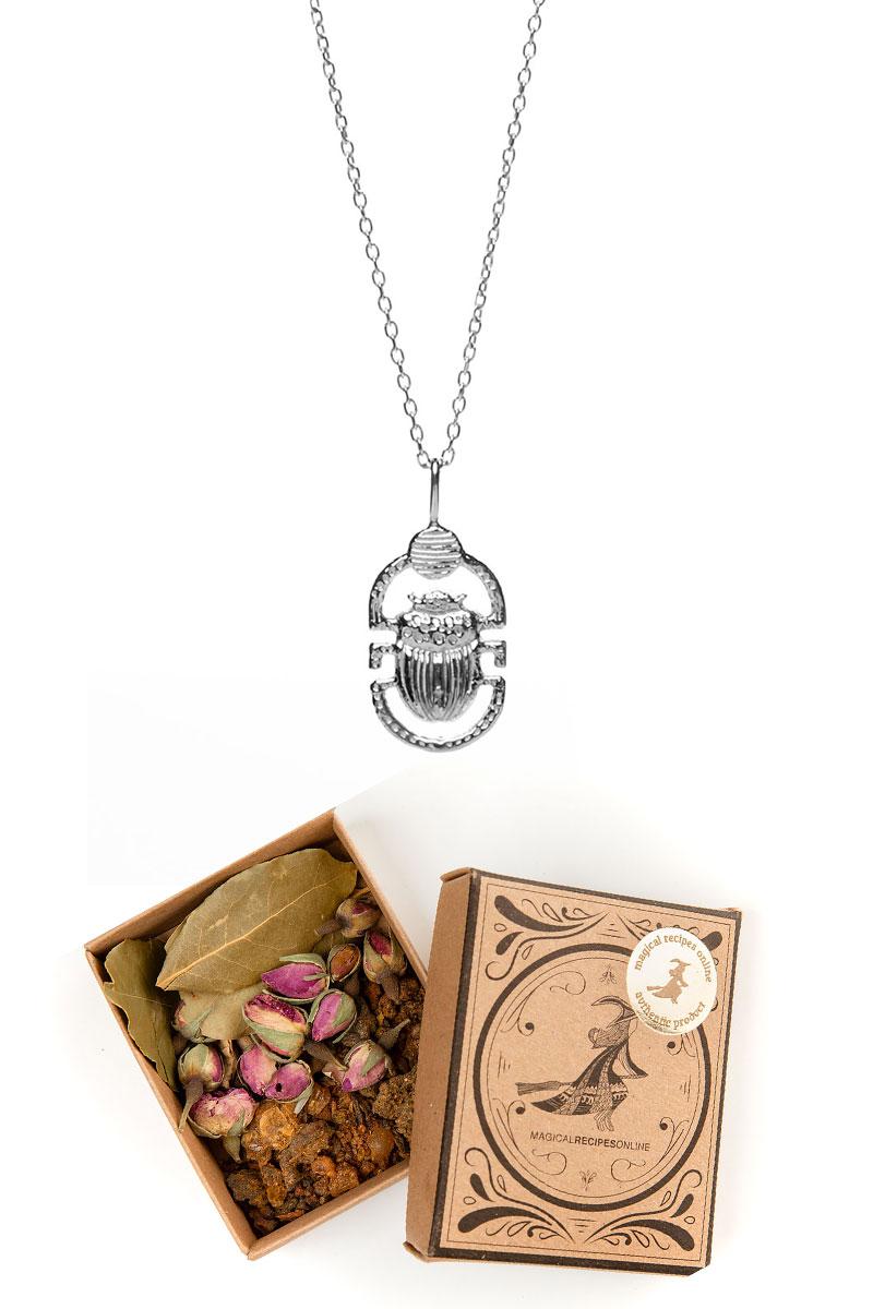 Silver Scarab Necklace