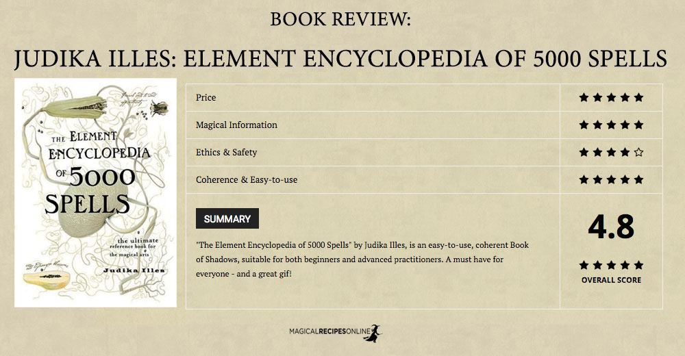 The Element Encyclopedia of 5000 Spells by Judika Illes. A Review.