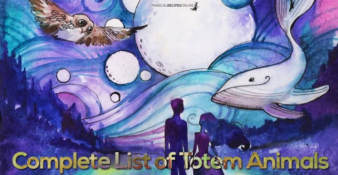 Complete List of Totem Animals