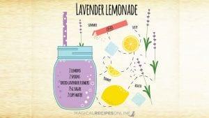 healing magic potion, lavender lemonade