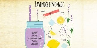 healing magic potion, lavender lemonade