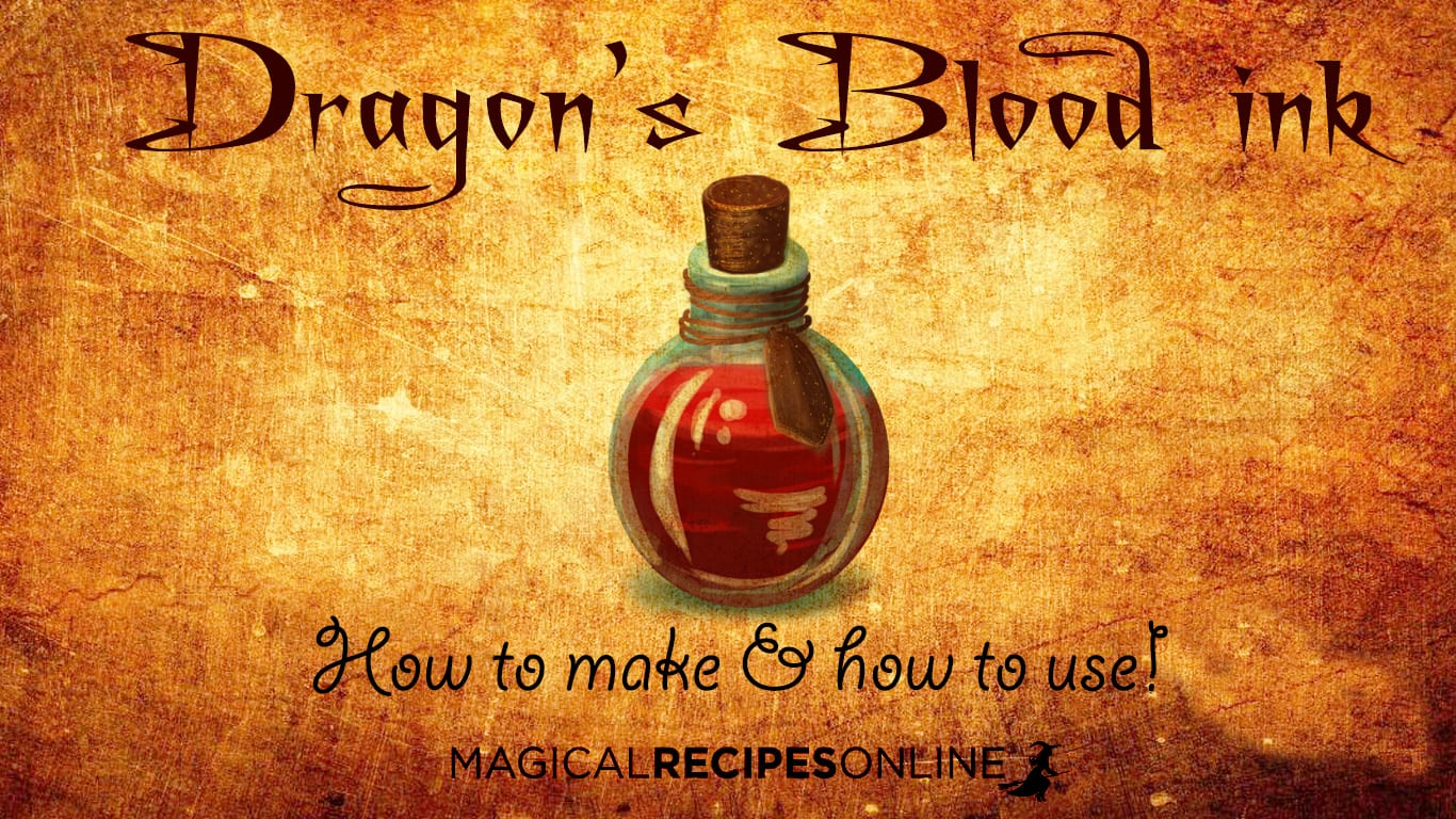 Ancient Ink Formula Recipe: Dragon's Blood ink