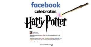 facebook celebrates harry potter