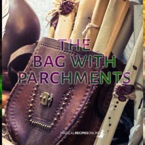 bag with parchments