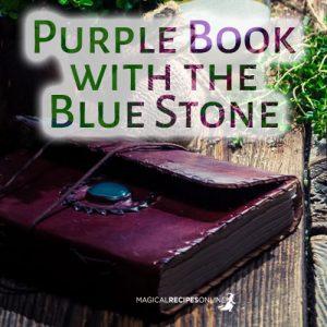 purple book with blue stone quiz