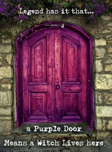 a purple door means a witch lives here