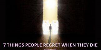 things people regret when they die