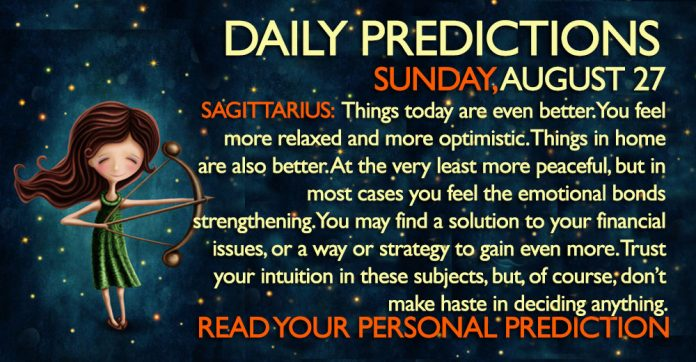 AUGUST 27 SUNDAY DAILY PREDICTIONS ASTROLOGY HOROSCOPE