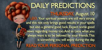 daily predictions horoscope august 10 2017