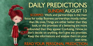 august 13 predictions