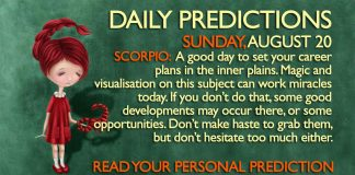 august 20 astrology predictions daily horoscope