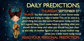 Daily Predictions for Thursday, 7 September 2017