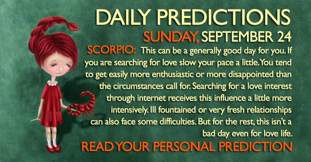 Daily Predictions for Sunday, 24 September 2017