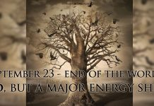 World End in September 23 2017? No, but a Major Energy Shift