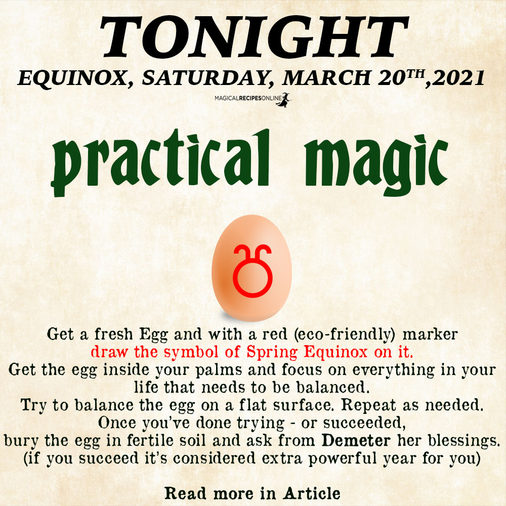 egg balancing practical magic