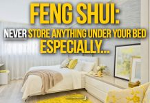 FENG SHUI: Never store anything under your Bed especially...