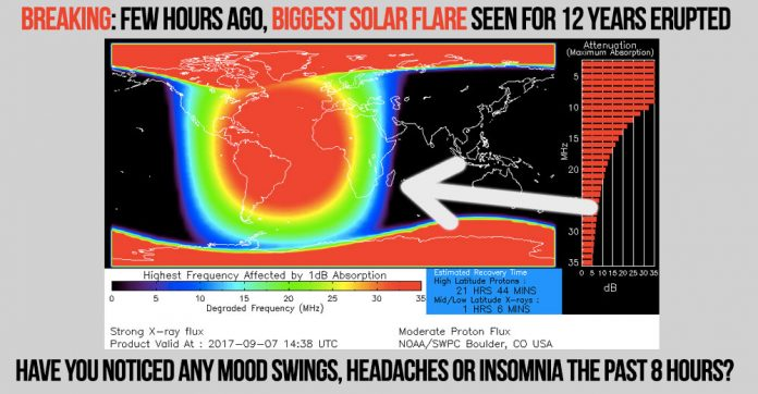Biggest Solar Flare seen for 12 years erupted today!
