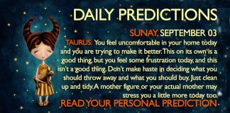 Daily Predictions for Sunday, 3 September 2017