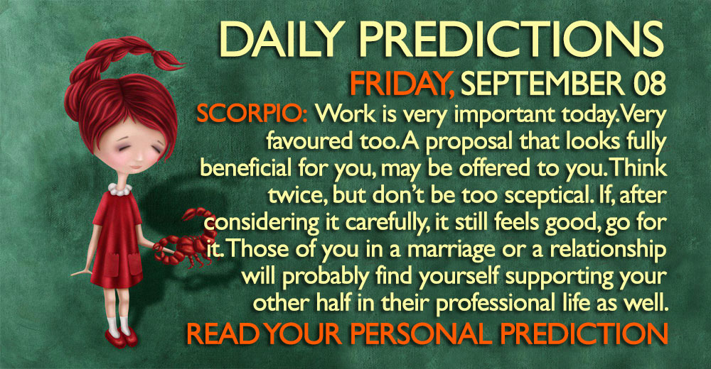 Daily Predictions for Friday, 8 September 2017