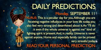 Daily Predictions for Monday, 11 September 2017