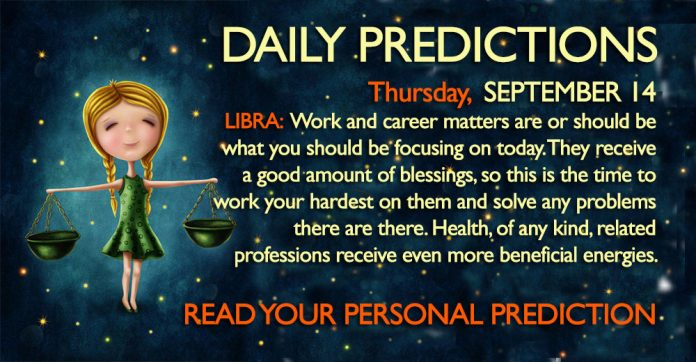 Daily Predictions for Tuesday, 14 September 2017