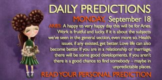 Daily Predictions for Monday, 18 September 2017