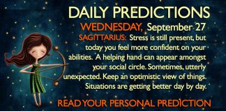 Daily Predictions for Wednesday, 27 September 2017