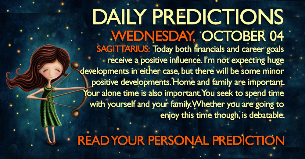 Daily Predictions for Wednesday, 4 October 2017