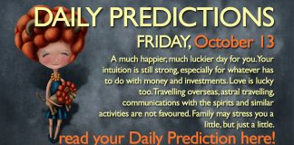 Daily Predictions for Friday, 13 October 2017