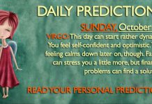 Daily Predictions for Sunday, 22 October 2017