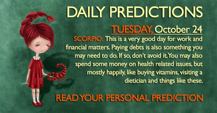 Daily Predictions for Tuesday, 24 October 2017