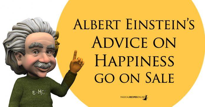 Albert Einstein Advice on happiness