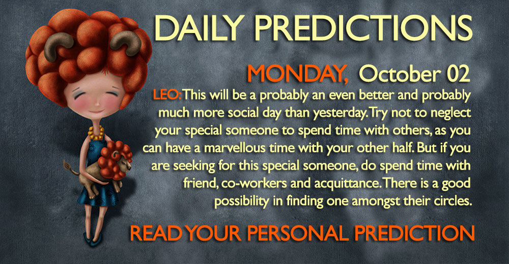 Daily Predictions for Monday, 2 October 2017