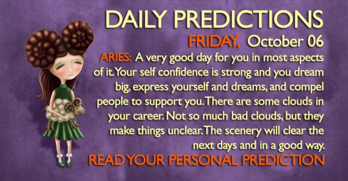 Daily Predictions for Friday, 6 October 2017