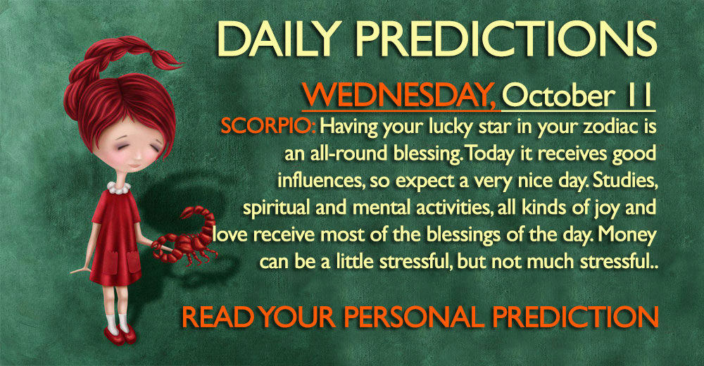 Daily Predictions for Wednesday, 11 October 2017