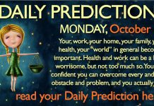 Daily Predictions for Monday, 16 October 2017
