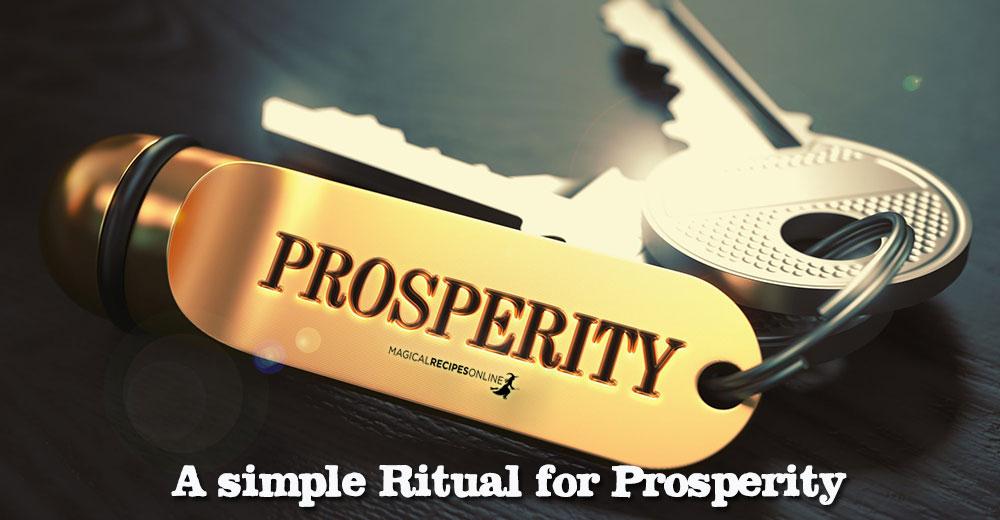 A Simple Prosperity Ritual