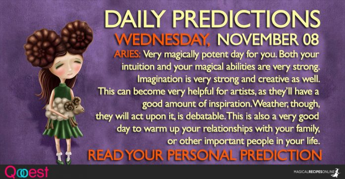 Daily Predictions for Wednesday, 08 November 2017