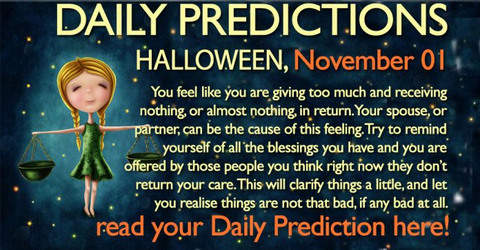 Daily Predictions for Wednesday, 01 November 2017
