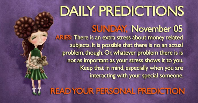 Daily Predictions for Sunday, 05 November 2017