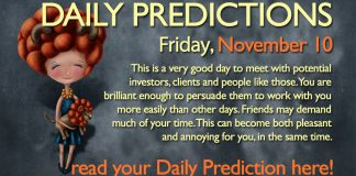 Daily Predictions and horoscopes november 10 friday 2017