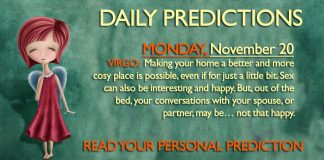 Daily Predictions for Monday, 20 November 2017