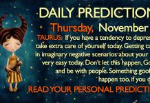 Daily Predictions for Thursday, 23 November 2017