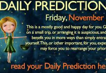 Daily Predictions for Friday, 24 November 2017