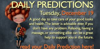 Daily Predictions for Tuesday, 19 December 2017